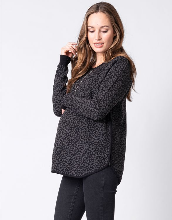 Image for Animal Print Maternity & Nursing Jumper