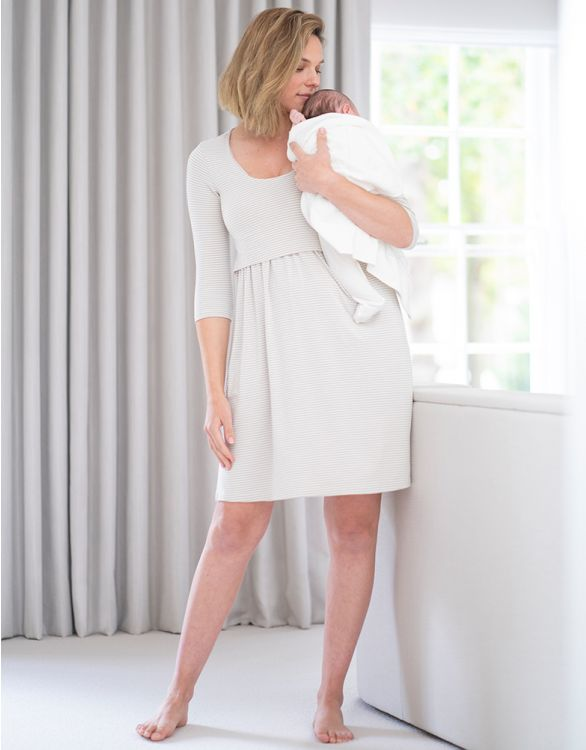 Image for Bamboo Maternity & Nursing Nightie