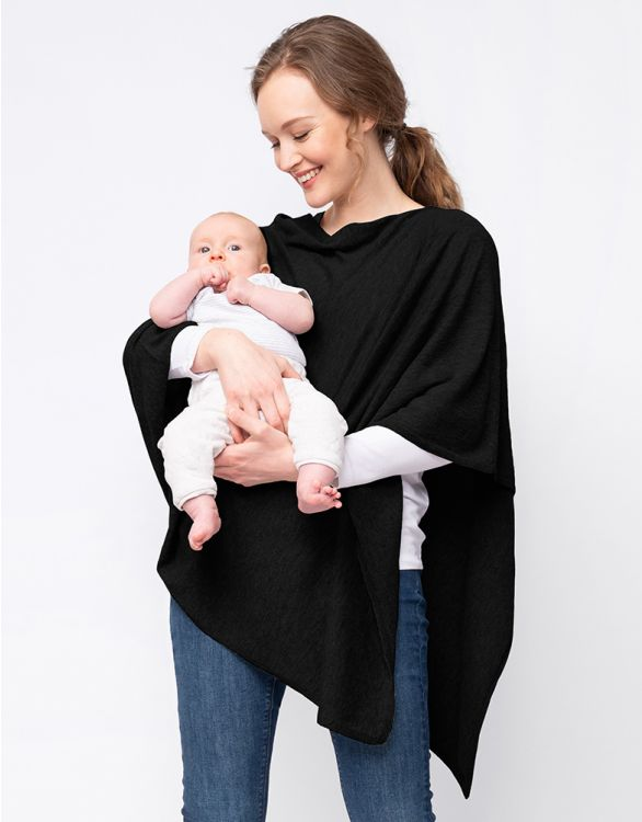 Image for Black Bamboo Blend Breastfeeding Cover