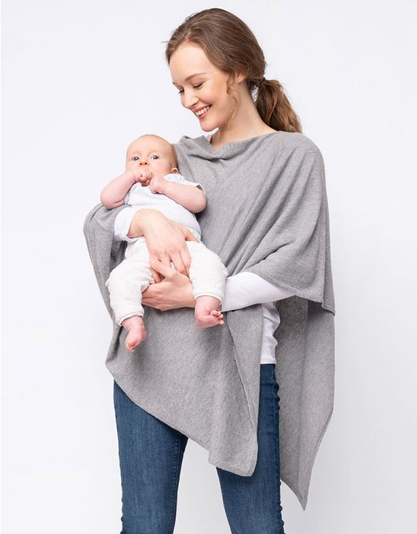 Image for Grey Bamboo Blend Breastfeeding Cover