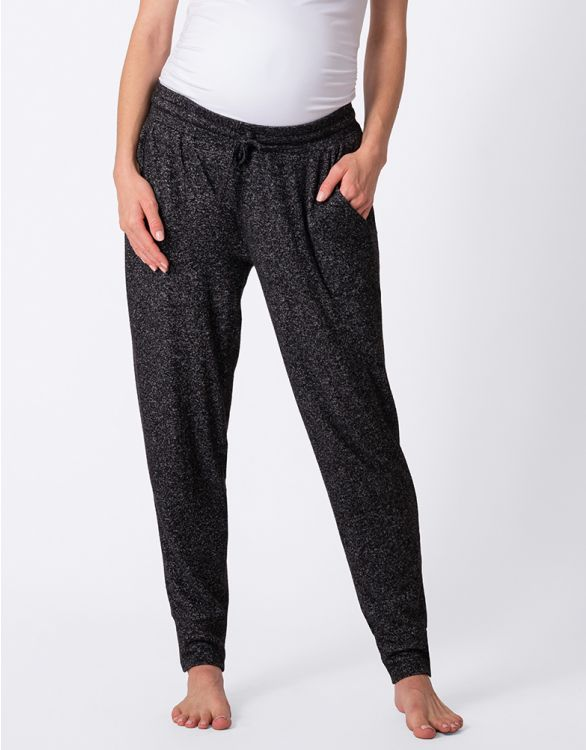 Image for Black Marl Maternity Joggers