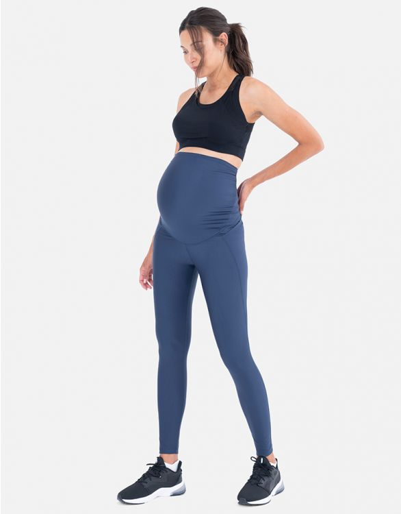 Image for Active Support Navy Maternity Leggings