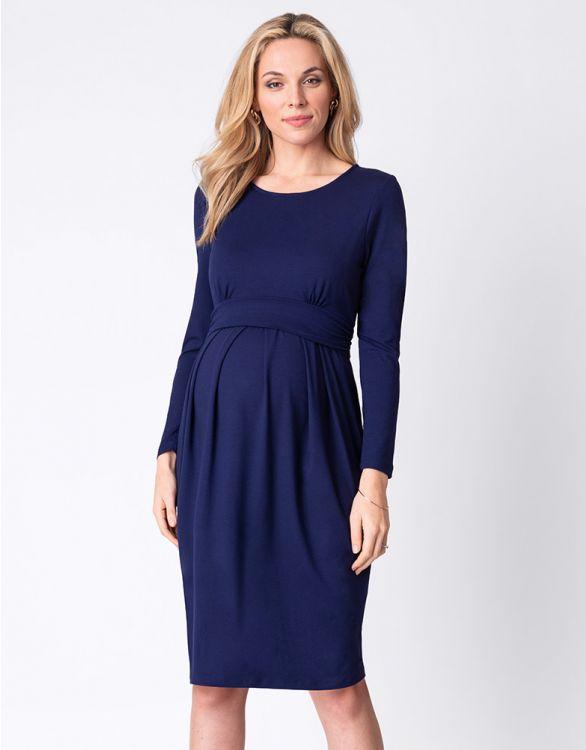 Image for Cobalt Blue Maternity & Nursing Dress