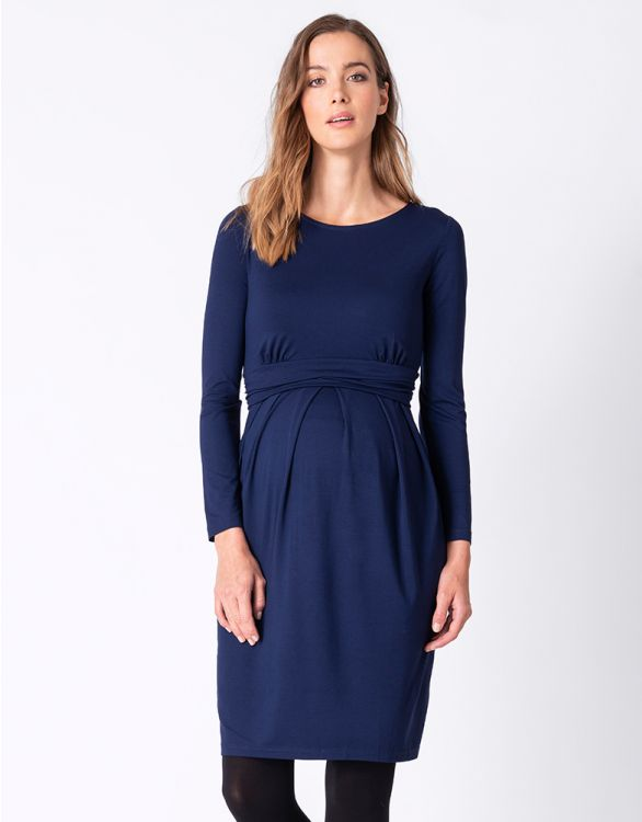 Image for Cobalt Blue Maternity & Nursing Dress