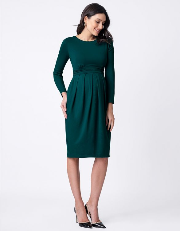 Image for Green Maternity & Nursing Dress