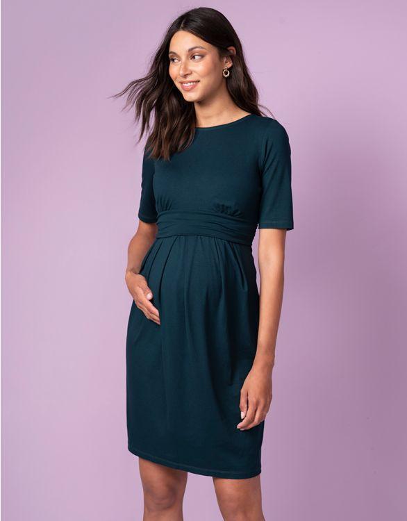 Image for Emerald Green Maternity & Nursing Dress