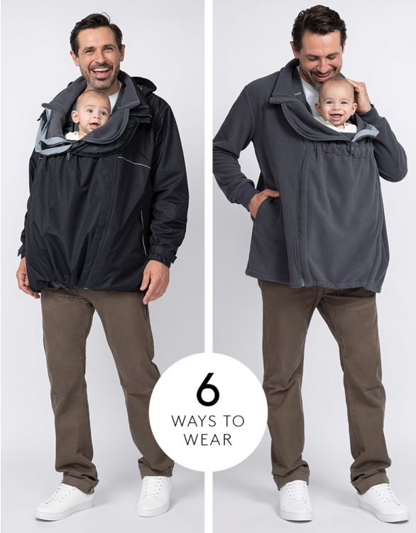 Image for 6 in 1 Men's Waterproof Jacket with Baby Pouch
