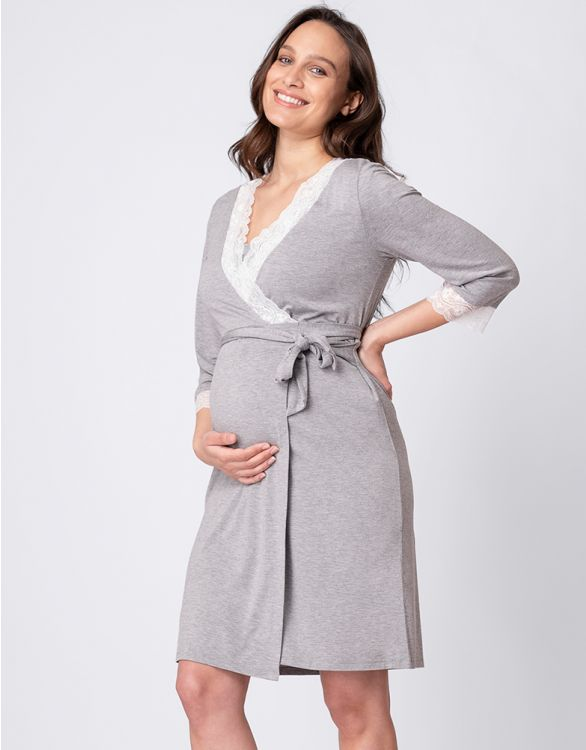 Image for Soft Modal Maternity Dressing Gown