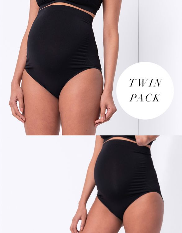 Image for Over Bump Bamboo Maternity Briefs – Twin Pack