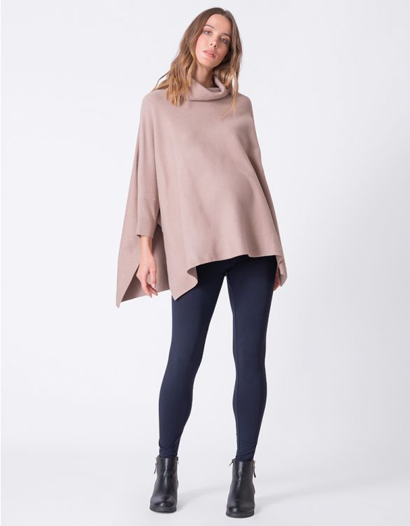 Image for Roll Neck Cape Maternity Jumper