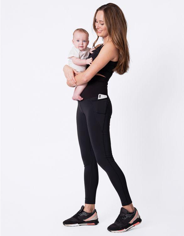 Image pour Legging sport post-grossesse – Noir