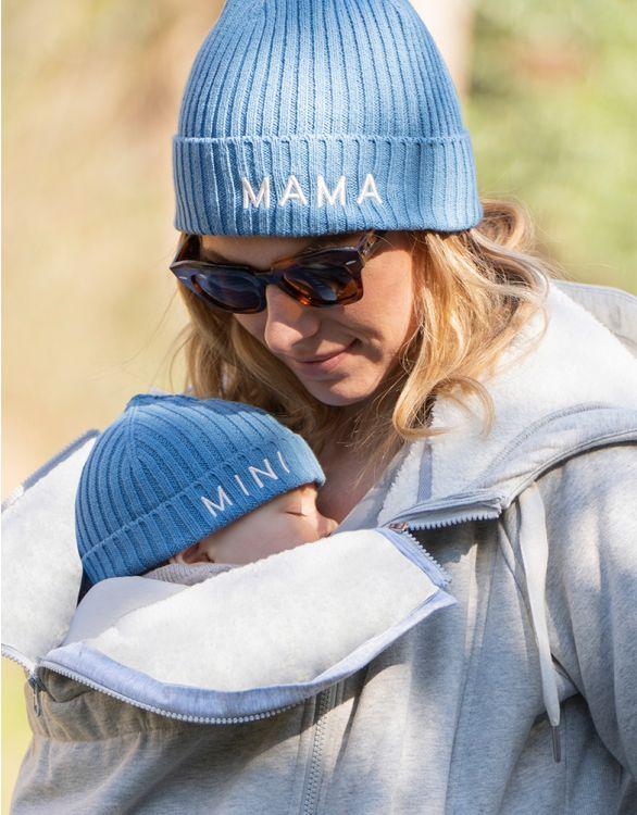 Image pour Bonnet en coton Mama et Mini  – Bleu
