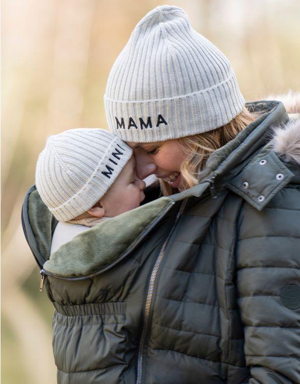 Image pour Bonnet en coton Mama et Mini  – Gris