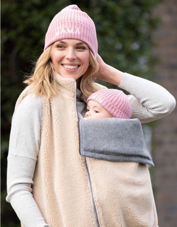 Image pour Bonnet en coton Mama et Mini  – Rose