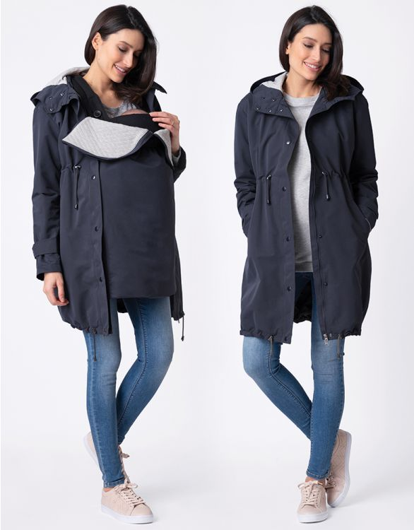Image pour Navy Blue 3 in 1 Mid-Weight Maternity Parka