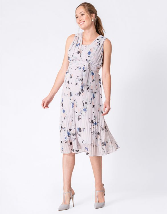 Image for Floral Pleated Maternity & Nursing Dress