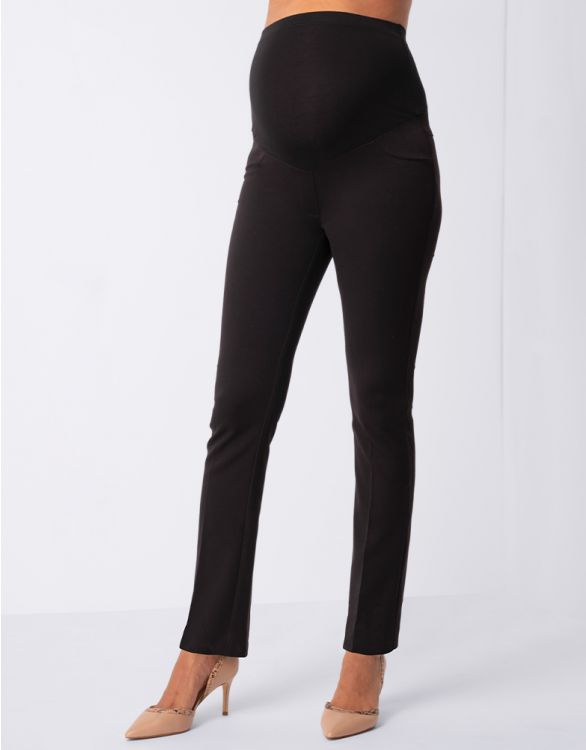 Image for Straight Leg Black Maternity Trousers