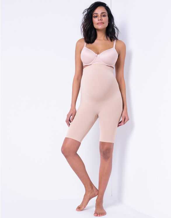 Image for Nude Hug-a-Bump Maternity Shorts