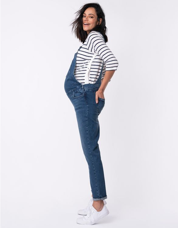 Image for Denim Maternity Overalls