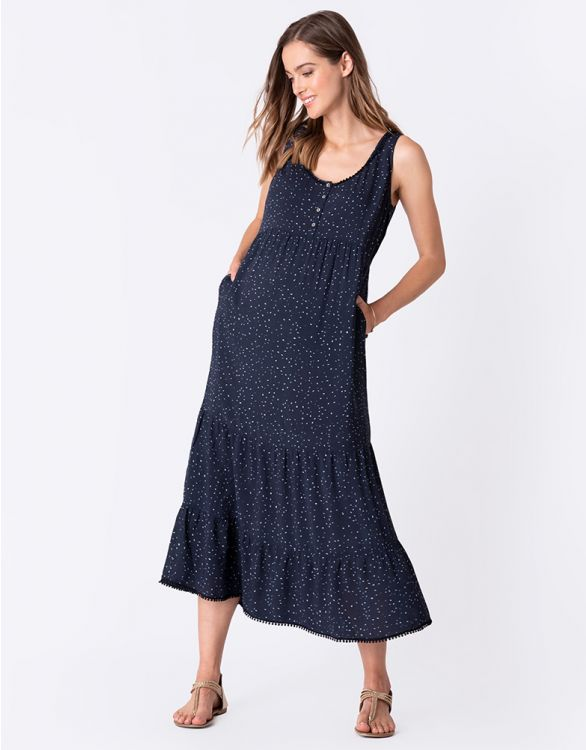 Image for Tiered Maternity Maxi Dress