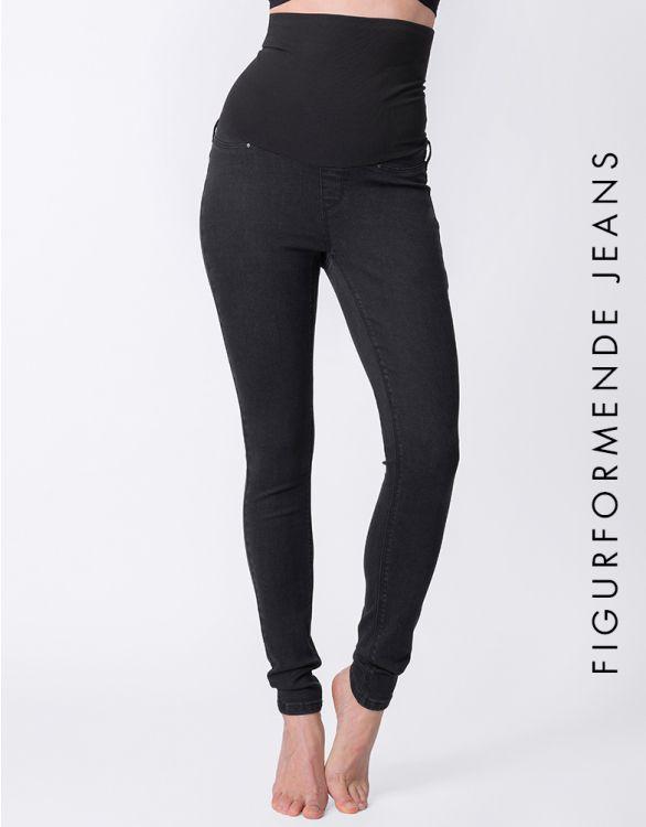 Bild für Figurformende postnatale Jeans - schwarz