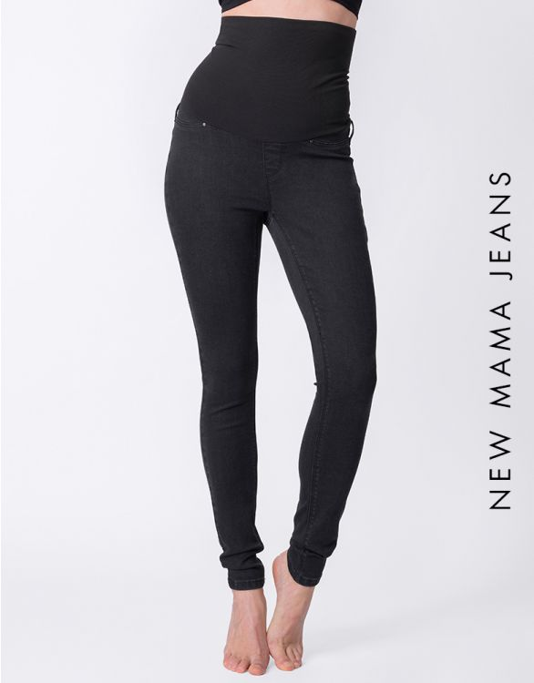 Image for Black Post Maternity Shaping Jeans