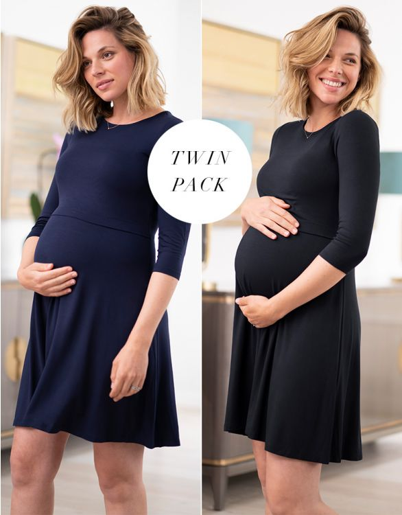 Image for Maternity & Nursing Dresses – Twin Pack