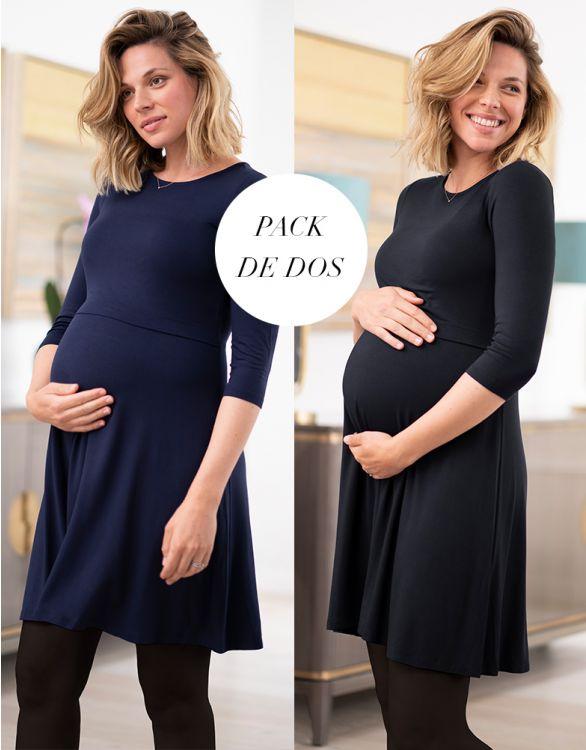 Imagen de Vestidos premamá y lactancia - Pack de dos