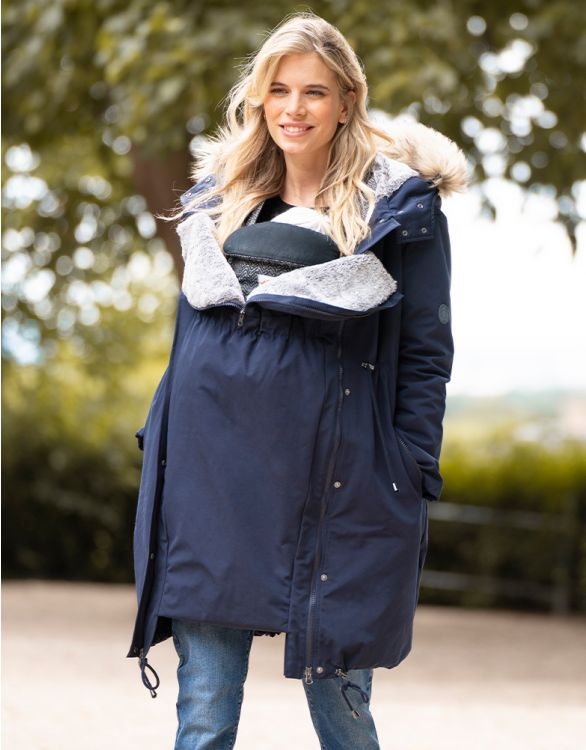 Image for Navy Blue 3 in 1 Winter Maternity Parka