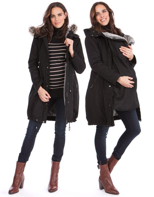 Image pour Parka extra chaude grossesse 3 en 1 - Noir