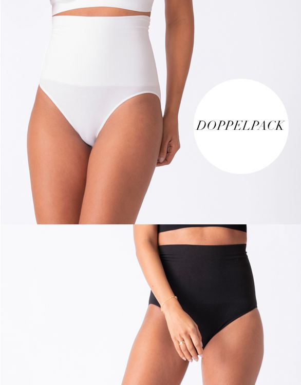 Bild für Postnatale Formende Slips – Doppelpack Schwarz & Weiß