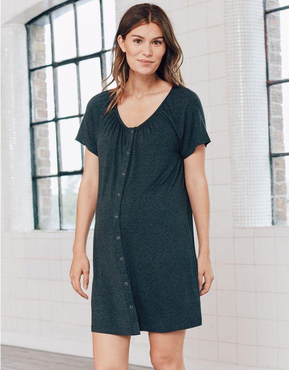 Image pour Organic Cotton Midi Birthing Gown