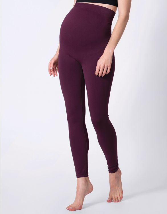 Image for Burgundy Hug-a-Bump Maternity Leggings