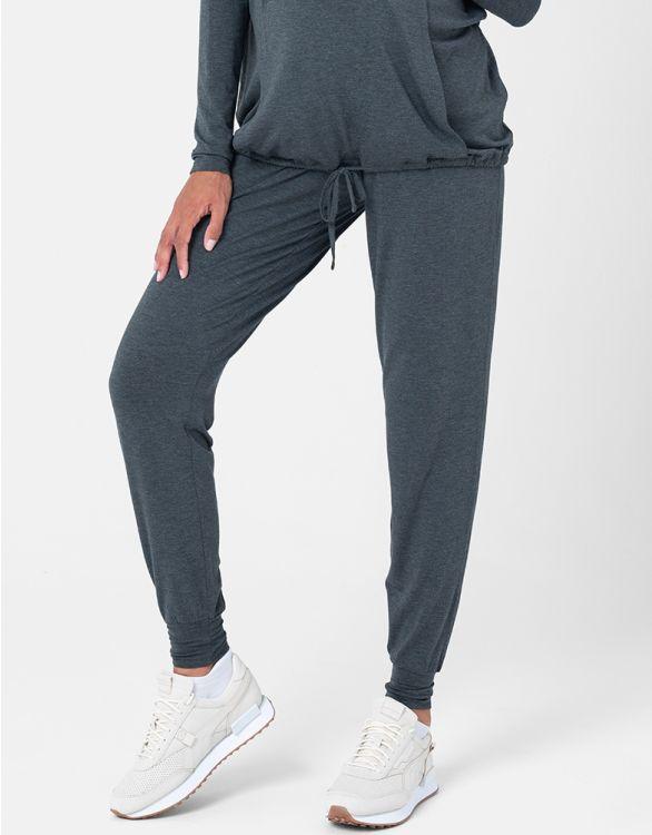 Image pour Pantalon loungewear grossesse – Gris foncé