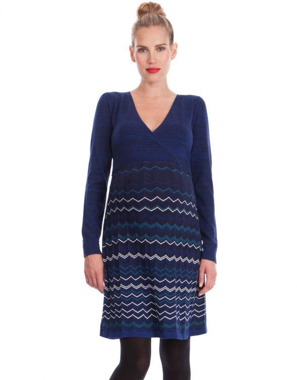 Image for Knitted Zigzag Maternity Dress