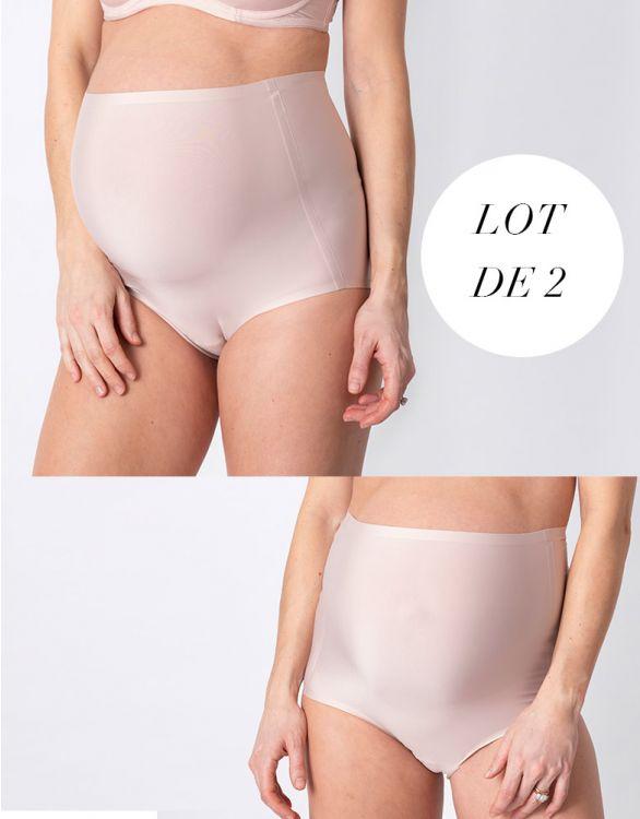 Image pour Culottes haute grossesse sans-demarcation - Lot de 2