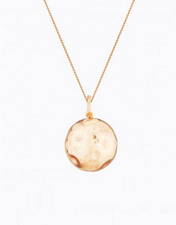 Imagen de Pink Gold Plated Moon Maternity Necklace