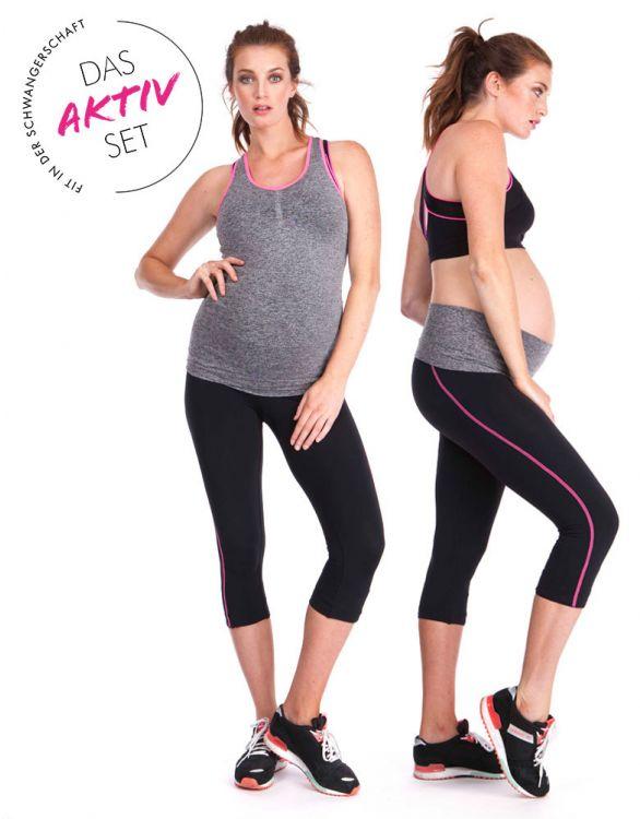 Bild für 2-teiliges Aktiv Basics Set - Schwangerschaftsyoga- und Sportbekleidung