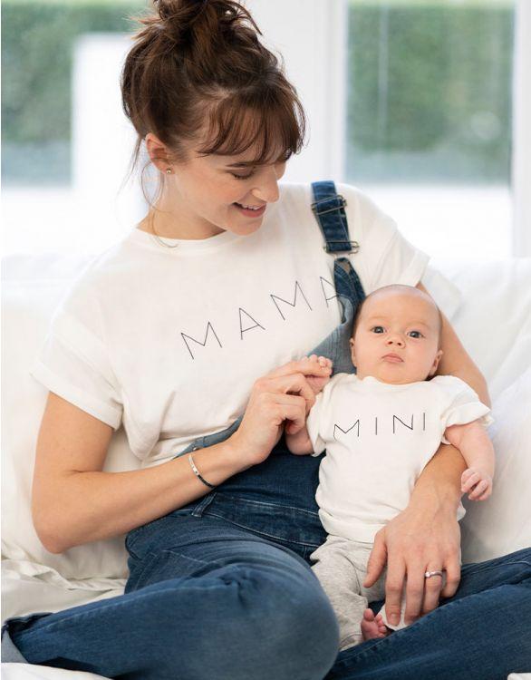 Image pour T-shirt en coton bio – Set maman et bébé