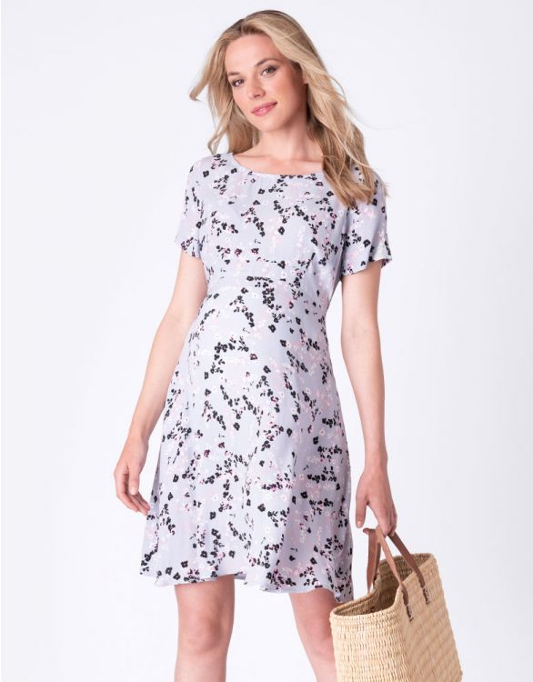 Image for Lilac Floral Maternity Dress