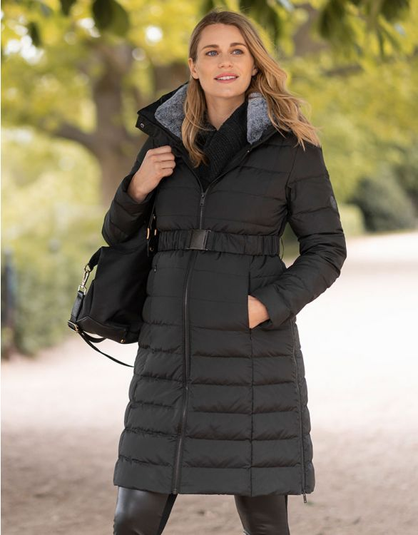Image for Black 3 in 1 Down Maternity Coat