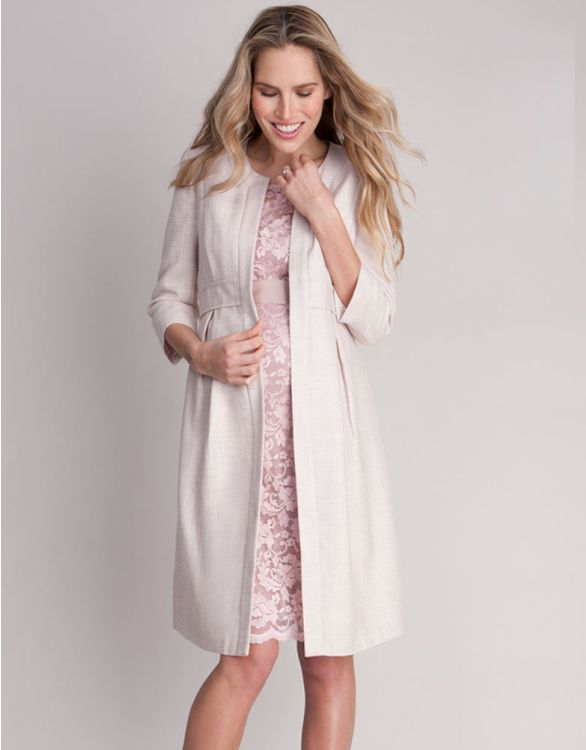 Image for Blush Champagne Occasion Maternity Coat
