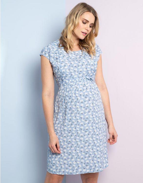 Bild für Blaues Daisy Umstands-und Stillkleid