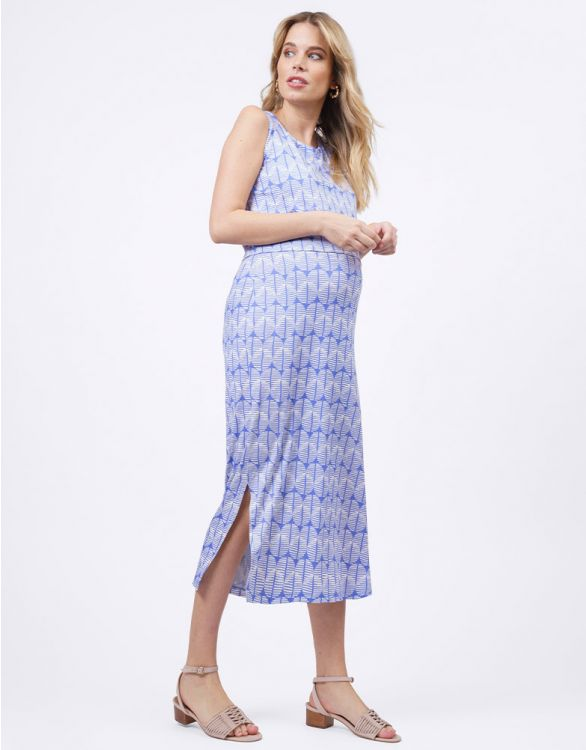 Image for Blue Print Maternity & Nursing Midi Dress