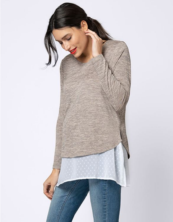 Image for 2 in 1 Layered Maternity & Nursing Top