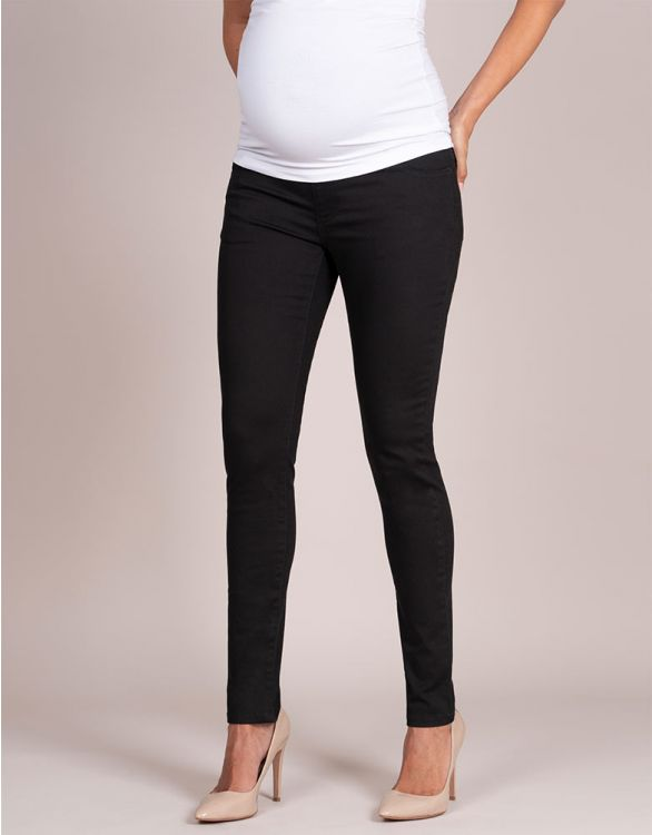 Image for Black Skinny Maternity Jeans