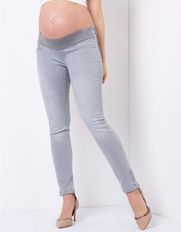 Image for Ash Grey Skinny Maternity Jeans