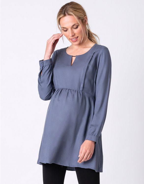 Image pour Tunique grossesse et allaitement - Bleu
