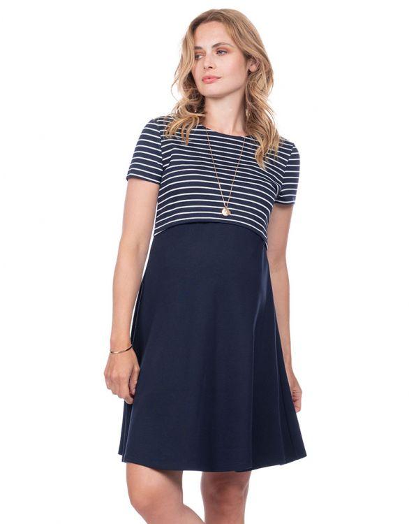 Image for Ponte Nautical Maternity & Nursing Dress