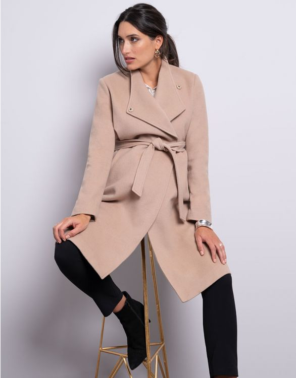Image pour Manteau grossesse en laine camel